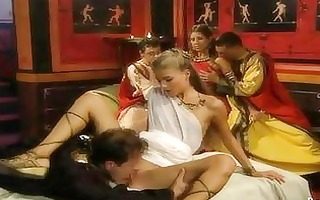 nice-looking babes and orgy in old rome style