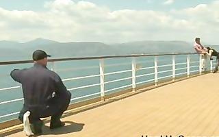 trio in cruise ship