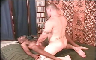 curly dark stud have bizarre anal fuck part2