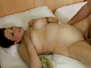 Granny enjoys massage and hard sex