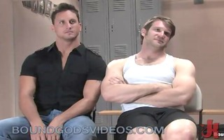 muscle homosexual guys thraldom fuck in gym