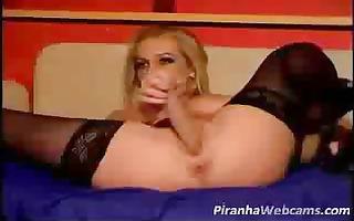 blonde angel masturbates on web camera