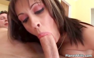 sexually excited tattooed redhead milf gets her
