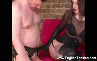 femdom-goddess demands sup to sex cream on her
