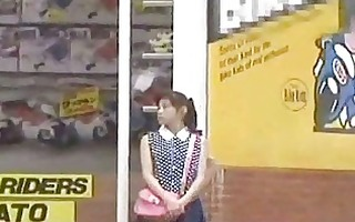 japanese girl oral job for cash in public place