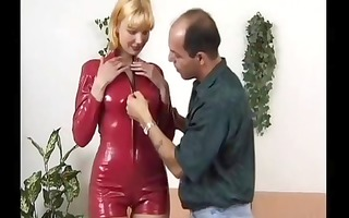 blond german wench blows him and then she is