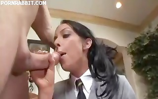 college hottie gets a hard knob to suck and fuck