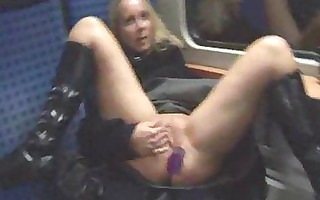 golden-haired receives fucked in public nudity