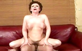 breasty grandma fucking with her young paramour
