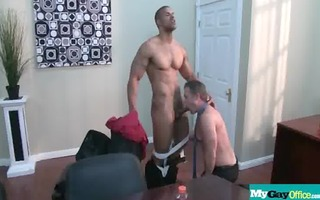 the gay office - homosexual anal sex & dong