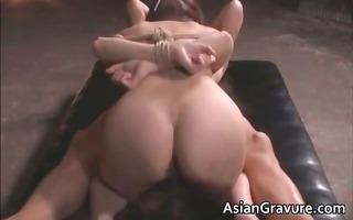 cute oriental babe in bondage sex gets part6