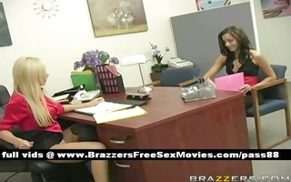 horny golden-haired doxy at the office