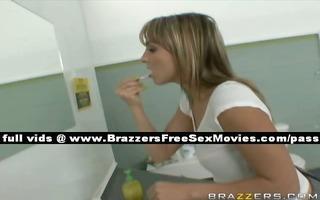 amateur blond slut in the bathroom with guys